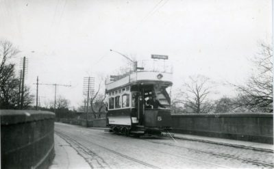 Double decker open top Tram