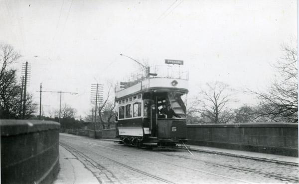 Double decker open top Tram