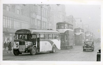 Single decker and trams AEC