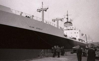 Cargo boat Dockside scene