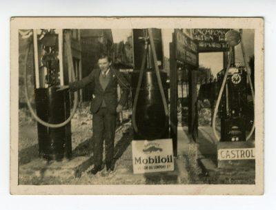 Petrol pumps - Castrol and Mobiloil
