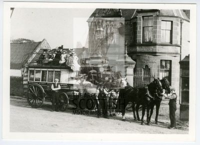 Horse drawn omnibus with four at hand