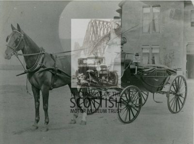 """Horse and coach before """"big house"""""""