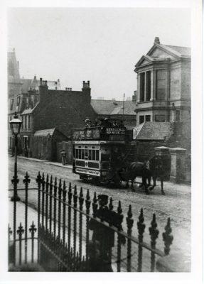 Horse drawn tram Street scene