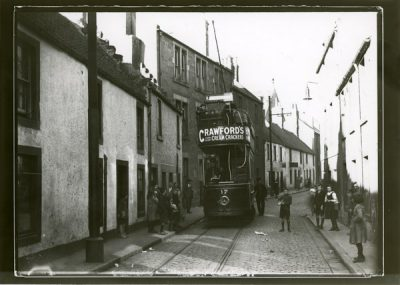 Open top tram British Electric Traction