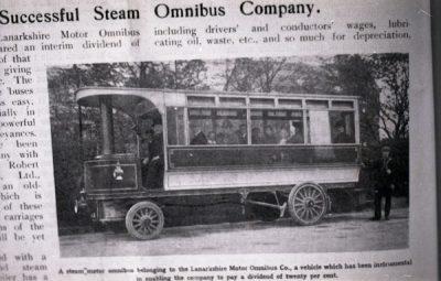 Single decker Steam Bus