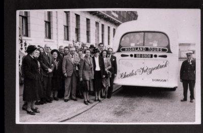 Single decker Tour bus