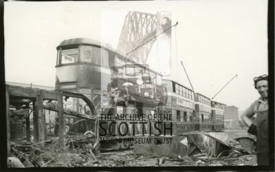 Trams about to be scrapped.