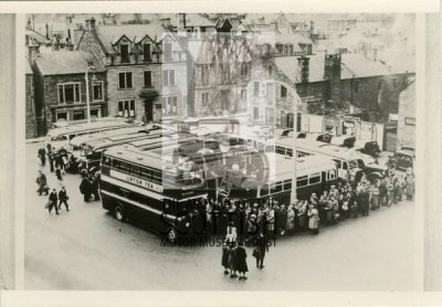 Galashiels Market SquareBuses of S.M.T. and United