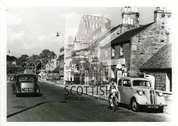 Ford Anglia and Humber HawkStreet scene