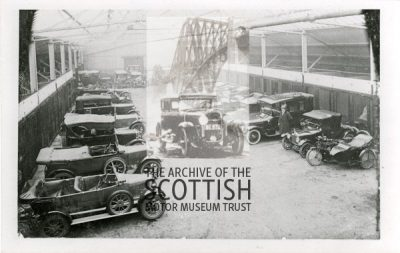 Hamilton's Garage, Stonelaw Road, Burnside.Various makes including Morris, Calcott and Argyll.