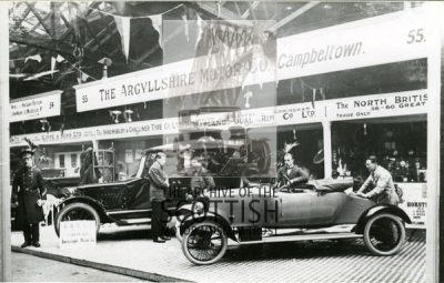 The Argyllshire Motor Co..Campbeltown.Waverley Market, Edinburgh, stand 55