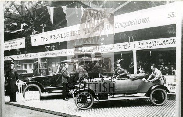 The Argyllshire Motor Co..Campbeltown.Waverley Market, Edinburgh, stand 55