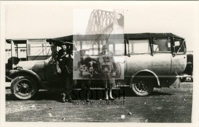 Charabanc with weather protection fitted